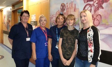 Mother Thanks Ysbyty Gwynedd's Children's Ward