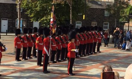 Welsh Guards Parade Through Bangor