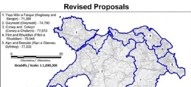 Bangor and Anglesey could form a new constituency called 'Ynys Mon a Fangor'