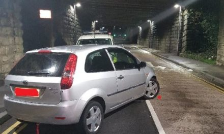 Police appeal after car abandoned on Caernarfon Road