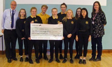 Ysgol Friars Pupils Raise Money for Ty Gobaith/Hope House