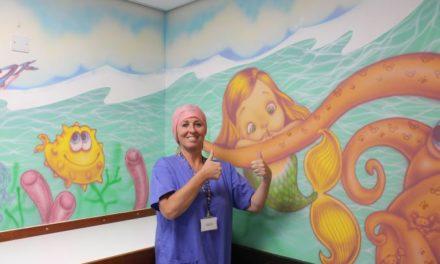 Ysbyty Gwynedd's children's waiting area transformed into work of art