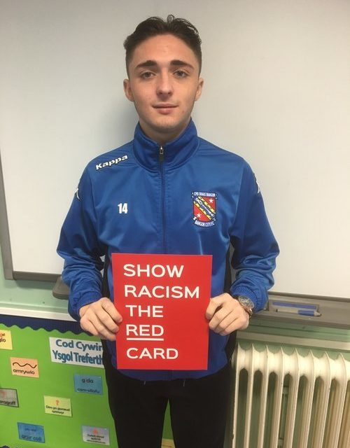 Bangor City take part in Show Racism the Red Card event