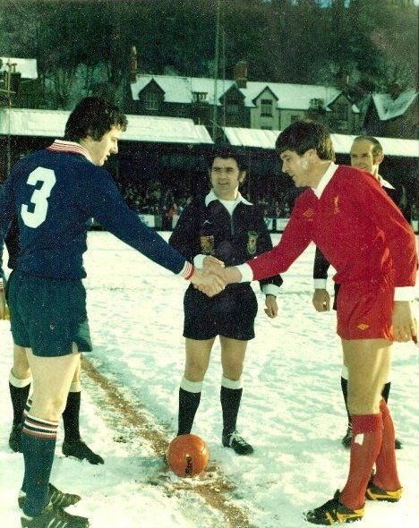 When Bangor City played European Champions Liverpool in the snow
