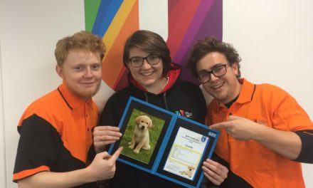 Bangor RAG sponsor guide dog in memory of Bangor University Student