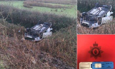 Driver arrested for drug driving after Tal y Bont accident