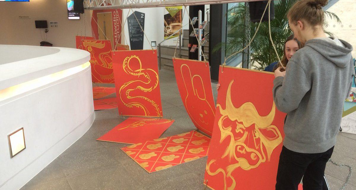 Coleg Menai Students create artwork for Wales-China Festival