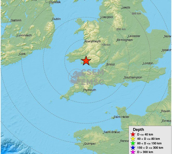 Quake felt across parts of the UK