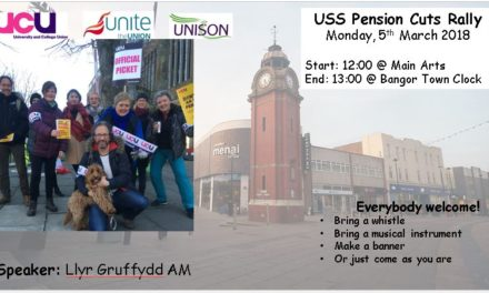Striking University staff to hold protest rally in Bangor