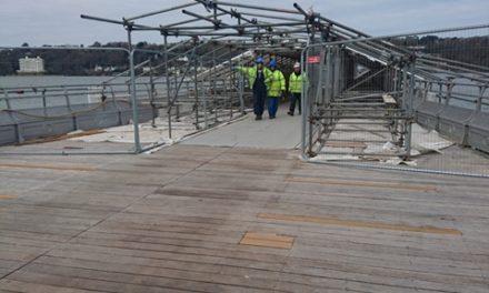 Latest photos of Bangor Pier restoration work