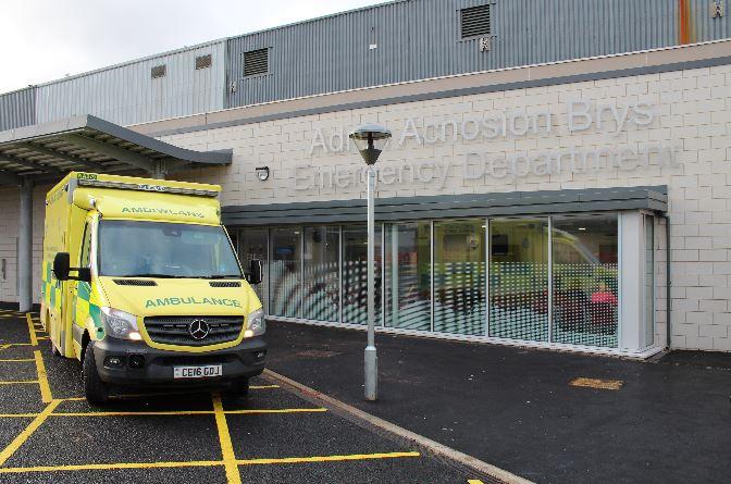 Man arrested after swearing and spitting at Ysbyty Gwynedd nurses