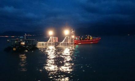 Driver seriously injured after car crashes into water at Hirael Bay