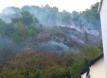 Police issue warning after Bangor mountain fire