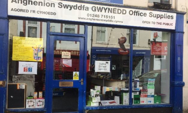 Gwynedd Office Supplies relocates to the old Cob Records Shop in Bangor