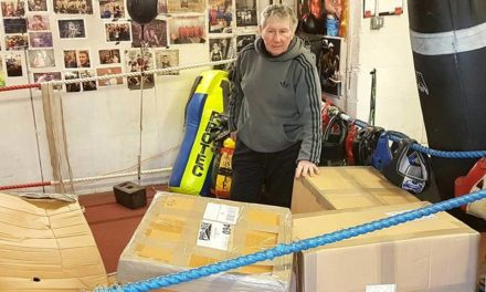 New equipment arrives at Maesgeirchen boxing club