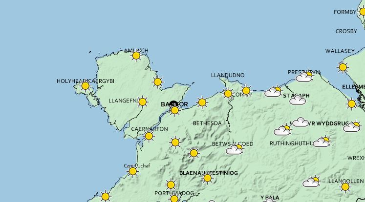 Dry and Sunny Weather forecast for the weekend