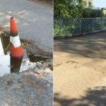 Doctor Dolittle film crew fix the biggest pothole in Bangor