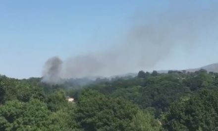 Large fire on Bangor mountain