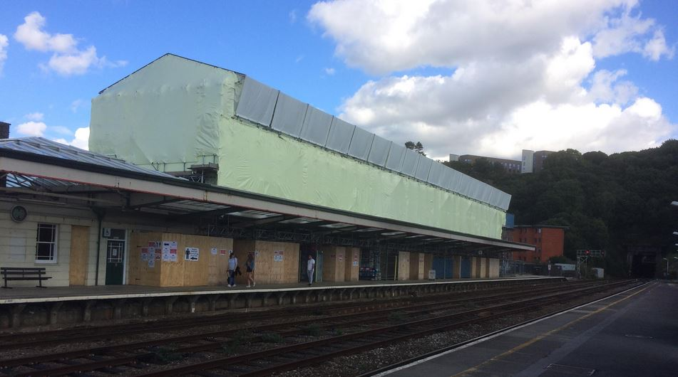 Restoration work at Bangor Railway Station progressing well
