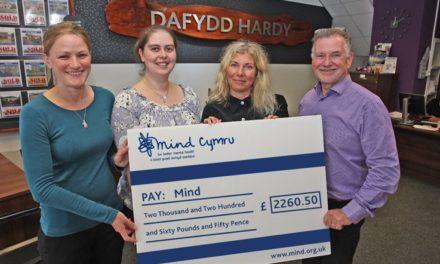 Dafydd Hardy Estate Agents Raise £2,300 for Mind Cymru