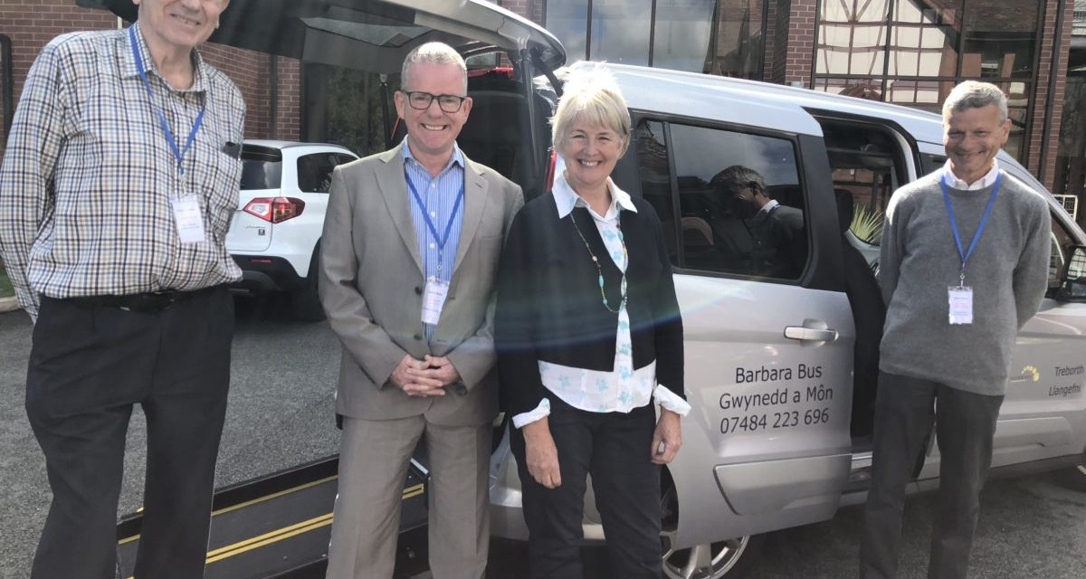 'Barbara Bus Gwynedd' launches charity bus for wheelchair users in Bangor
