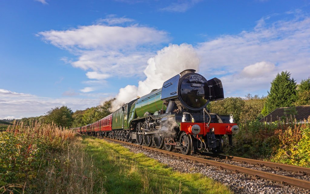 The 'Flying Scotsman' travels the North Wales coast this weekend stopping at Bangor