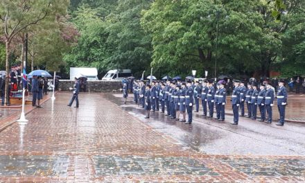 Large crowds attend Bangor RAF Centenary Parade despite torrential rain