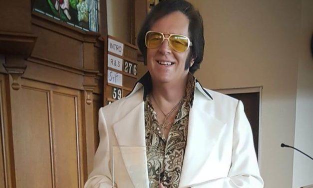 Ysbyty Gwynedd's 'Rocking Reverend' wins top 'Elvis' award