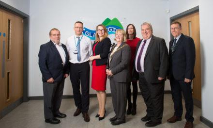 Education Secretary visits the new Ysgol Glancegin in Bangor
