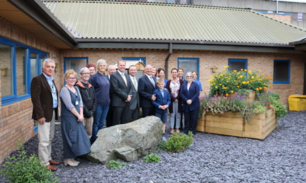 New garden creates friendlier environment for Ysbyty Gwynedd patients