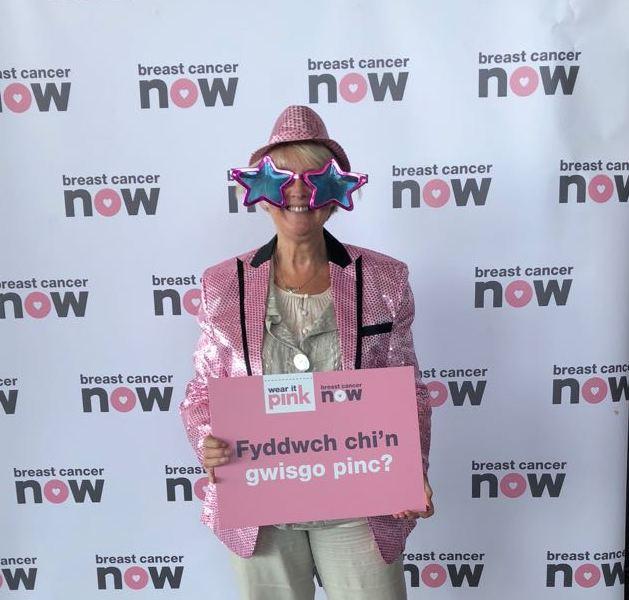 Siân Gwenllian 'Wears it Pink' for Breast Cancer research