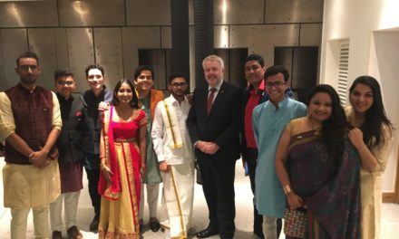 Bangor students celebrate Diwali with the first Minister of Wales