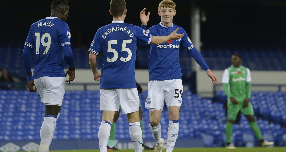 Nathan Broadhead scores as Everton hit Gor for Four