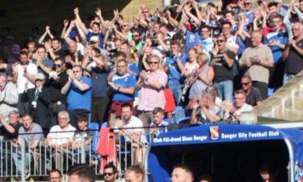 Safety announcement for Bangor – Caernarfon Welsh Cup game