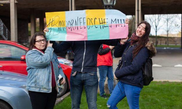 Students protest against Bangor University cuts