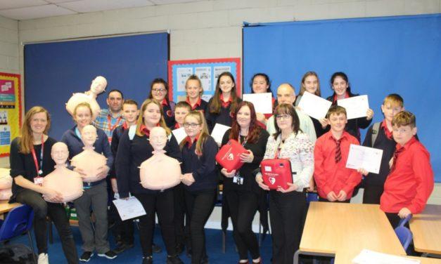 Schoolchildren learn life-saving CPR skills