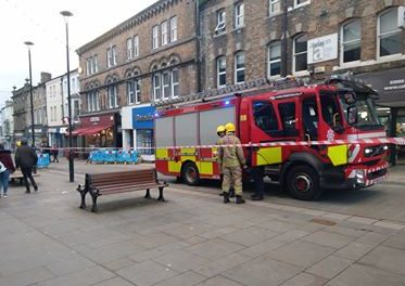 Electrical fault 'sparks' panic on Bangor High Street