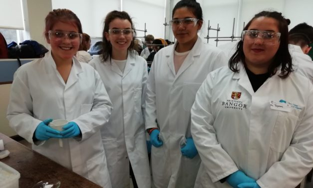 Coleg Menai students enjoy pharmaceutical day at Bangor University