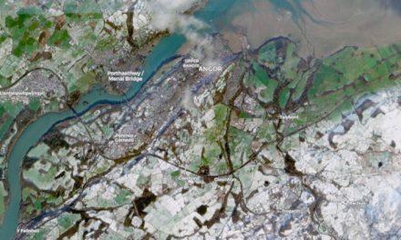 Global Monitoring Satellite captures image of snowy Bangor