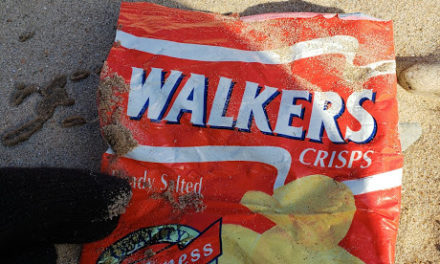 North Wales Wildlife Trust in Bangor collect crisp packets for recycling