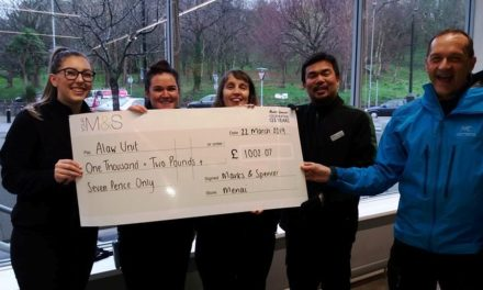 Bangor Marks and Spencer collect £1,000 for Alaw ward