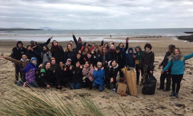 International Students from Bangor Uni work together for Anglesey beach clean