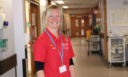 Ysbyty Gwynedd volunteer to pursue career in Midwifery