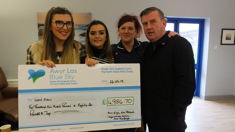 Ysgol Cae Top pupils raise money for Alaw Ward in memory of 'Miss Manon'