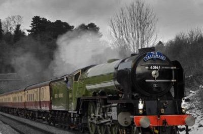 The Tornado locomotive steam train will be in Bangor today