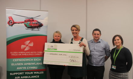 Housing association raises £1,500 for Wales Air Ambulance