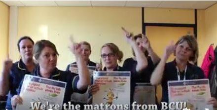 Matrons from Ysbyty Gwynedd Create 'Flu Rap'