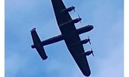 UK's Only Lancaster Bomber Seen Over Bangor