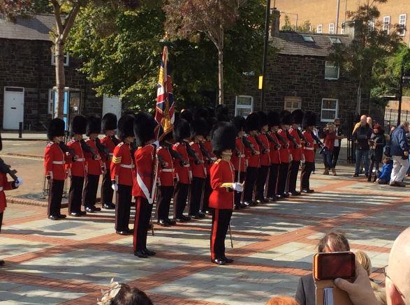 Welsh Guards Parade Through Bangor