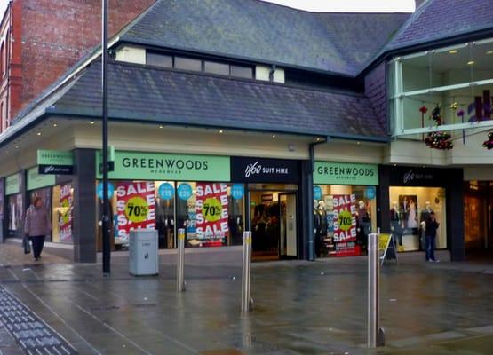 Bangor Greenwoods Menswear  Starts Closing Down Sale
